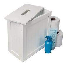 FREE STANDING BATHROOM TIDY TOILET PAPER ROLL CLEANING CABINET STORAGE UNIT NEW