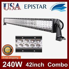 42INCH 240W LED WORK LIGHT BAR SPOT FLOOD TRUCK DRIVING BOAT 12V 24V JEEP 4WD US
