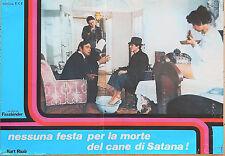 FOTOBUSTA 3, NESSUNA FESTA PER LA MORTE DEL CANE DI SATANA, FASSBINDER, POSTER
