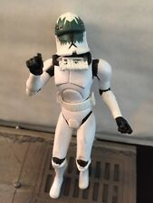 STAR WARS SAGA PILOT CLONE TROOPER ARMY LOOSE GREEN MASK