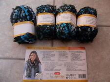 Crelando Bianca Effect Knitting Yarn/ Wool Shades Of Blue 200g (4 x 50g Balls