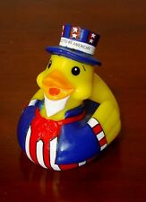 """Rare 2002 Pa Chapter-March of Dimes """"UNCLE SAM"""" RUBBER DUCKY Squeak Toy"""
