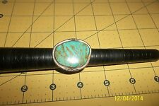 Large Old Boulder Spiderweb Vintage Dead Pawn NAVAJO Turquoise Ring Sz 8 .5 *
