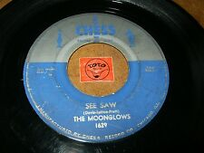 THE MOONGLOWS - SEE SAW - WHEN I'M WITH YOU (SILVER LABEL) / LISTEN - DOO WOP