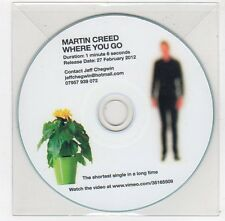 (FC116) Martin Creed, Where You Go - 2012 DJ CD