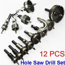 12PCS Hole Saw Tooth Kit HSS Steel Drill Bit Set Cutter Tool F/ Metal Wood Alloy