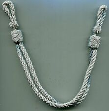 German Officers SILVER Visor Hat Chin Cord