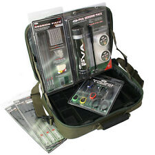 NUOVO NGT Tackle Box sistema sessione + PVA Pack Baiting Set + CAPELLI FERRETTINI Carpa AFFARE e £ £