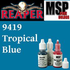 TROPICAL BLUE 9419 - MSP 15ml 1/2oz paint pot peinture figurine REAPER MINIATURE