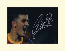 DAVID VILLA SPAIN BARCELONA PP 8x10 MOUNTED SIGNED AUTOGRAPH PHOTO