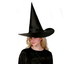2X Adult Ladies Black Witch Fancy Dress Costume Accessory Halloween Witches Hat