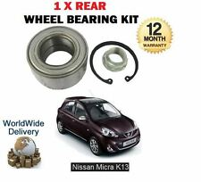FOR NISSAN MICRA K13 1.2 HR12DE HR12DR 2010--  NEW 1 X REAR WHEEL BEARING KIT