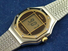 Vintage Edox Ladies LCD Digital Watch New NOS Circa 1980s Swiss , Top quality