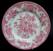 Vintage Enoch Wedgwood Asiatic Pheasant Pattern Red Dinner Plates 25cm - in VGC
