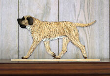 Mastiff Dog Figurine Sign Plaque Display Wall Decoration Fawn Brindle