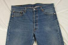 Levi 501 Button Fly Straight Leg Faded Denim Jeans Tag 36x30 Measure 36x28
