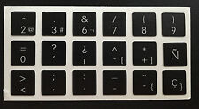 Pegatinas para teclado español - Apple black Macbook - Spanish Keyboard Stickers