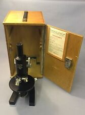 WIL- OPTIK GERMANY MICROSCOPE With Lenses Cased Ship Worldwide