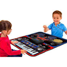Little Virtuoso Musical Instrument Play Mat Piano Drum Keyboard Touch Toy Child