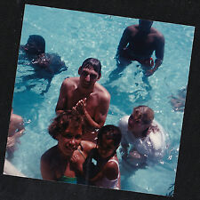 Vintage Photograph Group of People in Bathing Suits Swimming in the Water