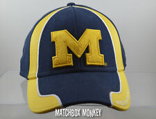 U of M University of Michigan Wolverines Baseball Hat Ball Cap Cloth Blue NWT
