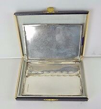 Vintage 925 Sterling Silver Cigarette Case W/Tobacco Flapper & Original Box J167