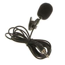 3.5mm Jack Plug Mini Clip On Microphone Mic With Tie Collar Shirt Clip Black