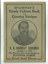 Old AD Booklet Shumway Seedsman Rockford IL Garden Seed Culture Canning Recipes