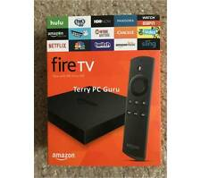 Amazon Fire TV Box 2nd Gen w/ALEXA Voice 4K UHD Addons 17.1