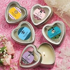 75 Personalized Silver Heart Scented Candle Wedding Shower Party Gift Favors