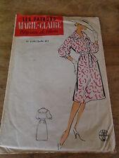 """ANCIEN PATRON  MARIE CLAIRE """"ROBE BLOUSANTE   T 44  1960"""