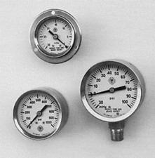 "PRESSURE GAUGE 2 1/2"" x 1/4"" BOTTOM MOUNT SS CASE/BRASS INTERNALS 0-5000PSI/UTIL"