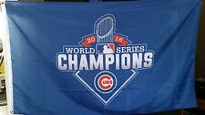 Chicago Cubs World Series Champions 3x5 New Blue Trophy Win Flag Baseball Banner