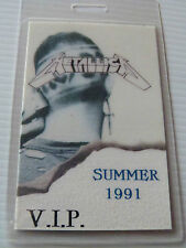 Metallica Summer 1991 Laminated VIP Backstage Tour Pass