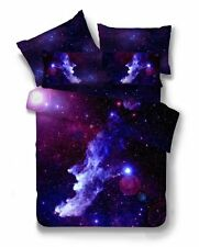 3D Galaxy Bedding Pillowcase Quilt Cover Duvet Cover Set Double Size
