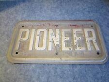 """Vintage Metal Pioneer Sign 15"""" x 8"""""""