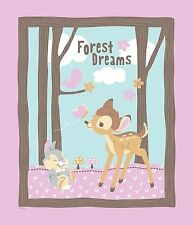 "1 Springs Disney Bambi ""Woodland Dreams"" Fabric Panel  New!!"