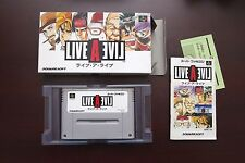 Super Famicom SFC Live A Live Boxed SNES games US Seller