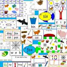 CVC teaching resource CD - reading, spelling, games, phonics, Letters and Sounds
