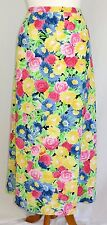 Pendleton Floral Skirt Lined Blue Yellow Pink Green Black Size 14