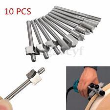10pcs 3mm 1/8'' Shank TCT Template Straight Router Cutter Bit Set Wood Work Tool