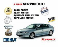 FOR RENAULT LAGUNA 2.0 DCi 150BHP 2005-2007  OIL AIR FUEL POLLEN 4 FILTER KIT