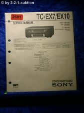 Sony Service Manual TC EX7 /EX10 Cassette Deck (#2581)
