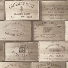Exposed Dark Wooden Wine Box Wallpaper PE-11-02-0