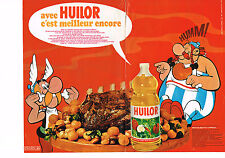 PUBLICITE ADVERTISING  1967   HUILOR  huile ASTERIX & OBELIX ( 2 pages) 2