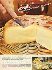 Publicité 1966  BONBEL  fromage moelleux et fondant