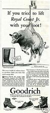 1931 Print Ad of BF Goodrich Boots with Bull Royal Count Jr