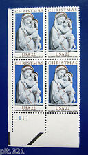 Sc # 2165 ~ Plate # Block ~ 22 cent Genoa Madonna Issue