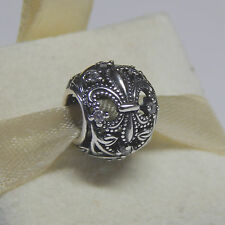 New Authentic Pandora Charm 791378CZ  Fleur-De-Lis CZ Bead Box Included