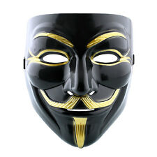 Vendetta Guy Fawkes Anonymous Playing Black Halloween Cosplay Dressing V Mask